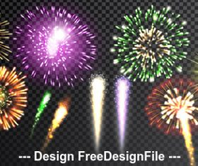 Beautiful firework vector