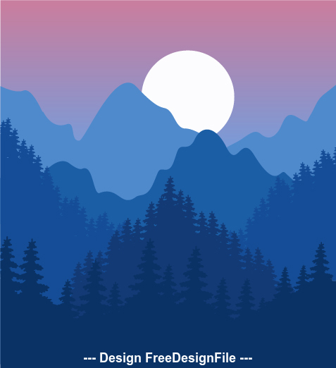 Beautiful nature landscape vector