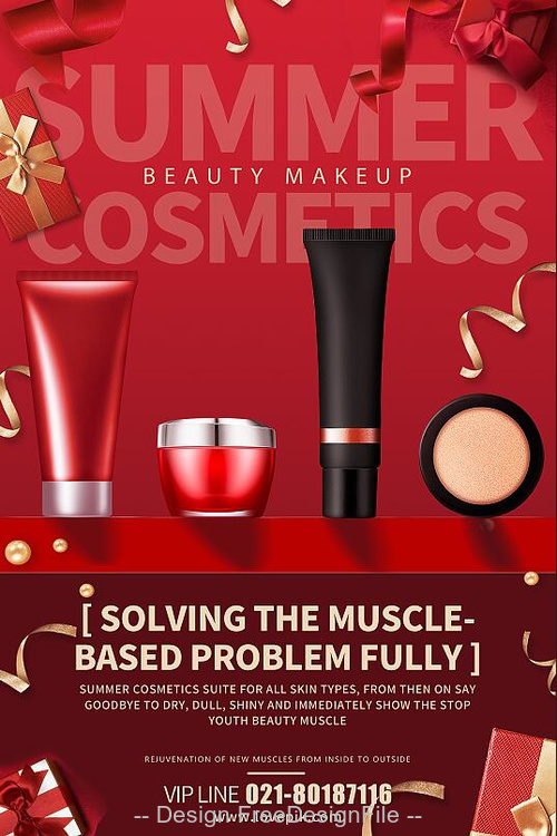Beauty Makeup Sale Flyer PSD Template
