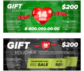Big sale gift voucher vector