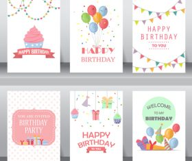 Birthday decorative greeting card vector