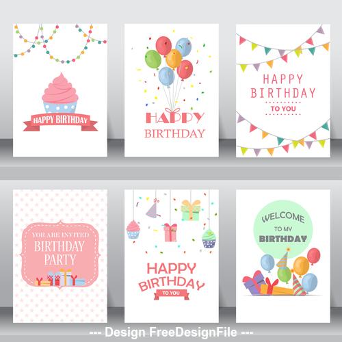 Birthday decorative greeting card vector