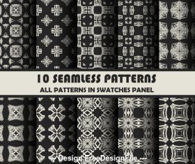 Black white seamless pattern vector