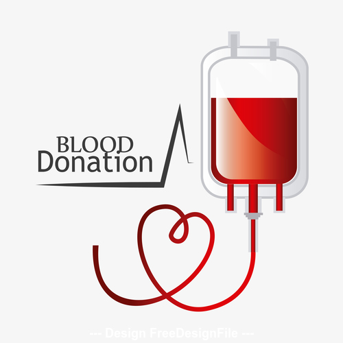 Blood donation sign vector