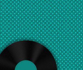 Blue background vinyl disc vector
