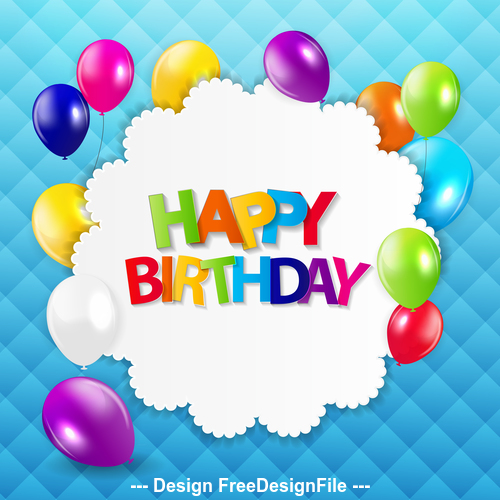 Blue comic background birthday card vector