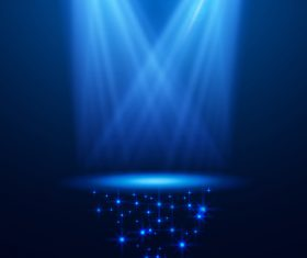 Blue cross spotlight effect vector