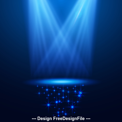 Blue cross spotlight effect vector
