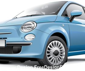 Blue mini car vector