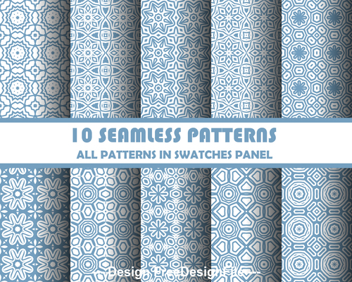 Blue white background seamless pattern vector