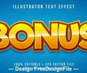 Bonus editable font effect text vector