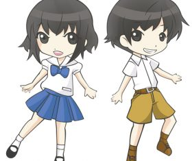 Boy and girl student vector