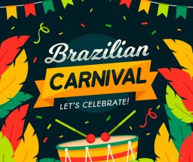Brazil carnival card vector