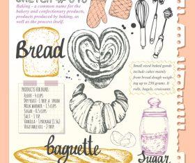 Bread sketch illustration vector