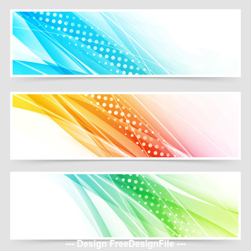 Bright colorful modern futuristic dotted headers vector