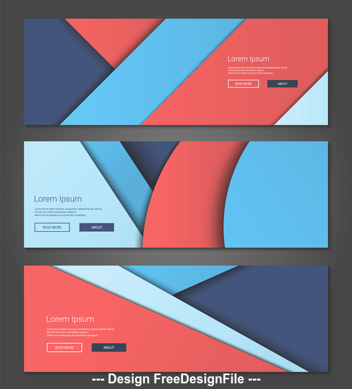 Bright geometric colors banner vector