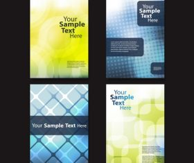 Brochure colorful background design template vector