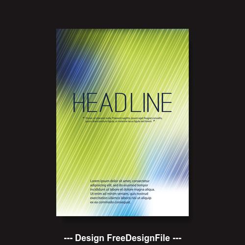 Brochure green background design template vector