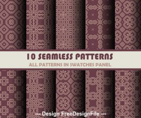 Brown background seamless pattern vector
