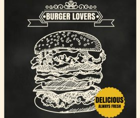 Burger lovers vector