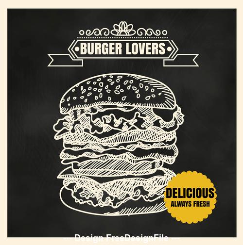 Burger lovers vector