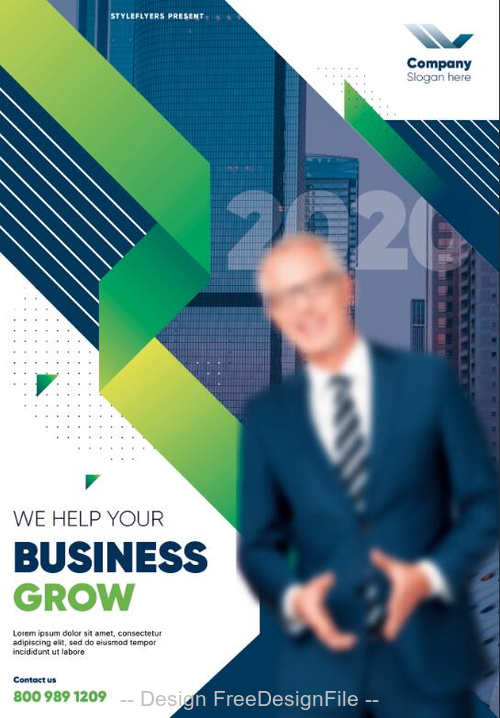 Business Grow Brochure PSD Template