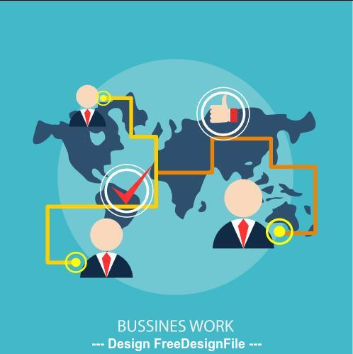 Business Work elements vector