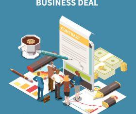 Business deal illustration vector