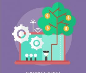 Business growth elements vector