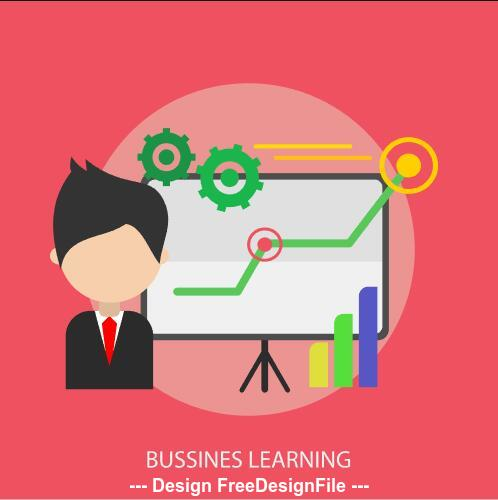 Business learning elements vector