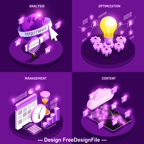 Business management collection vector