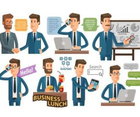 Business people dialogue background vector