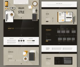 Business web design vector