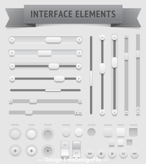 Button design elements template vector