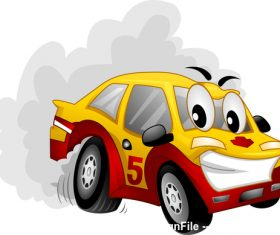 Car drif cartoon vector