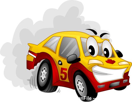 Car drif cartoon vector