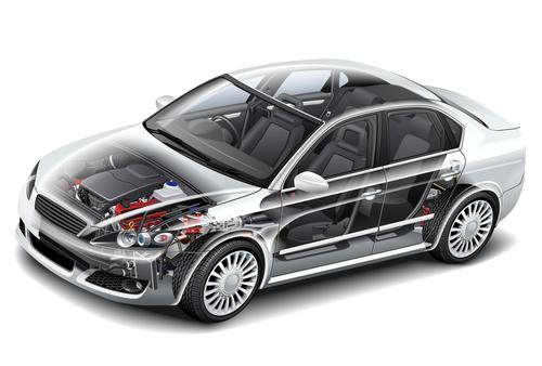 Car engine display vector