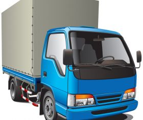 Cargo truck cartoon vector