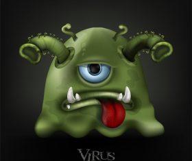 Cartoon covid-19 virus vector