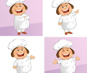 Cartoon female chef vector