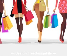 Cartoon female legs vector