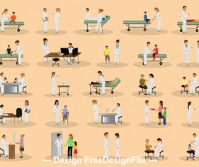 Cartoon illustration hospital vector