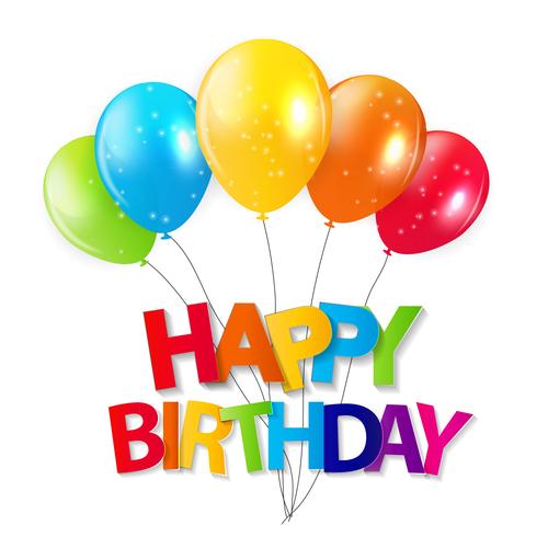Celebrate birthday vector