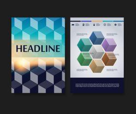 Checkered background flyer design template vector