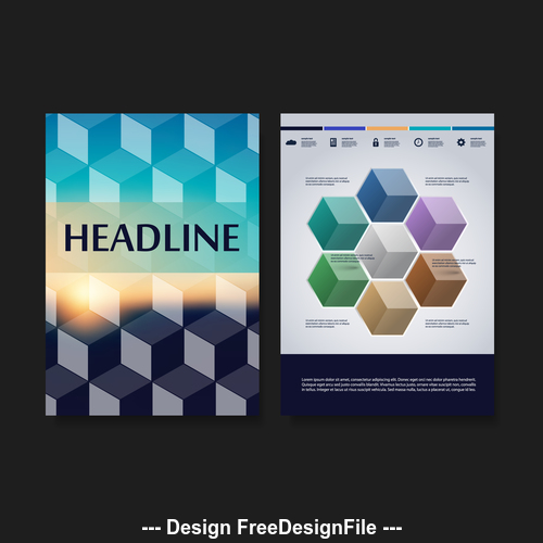 Checkered background flyer design template vector