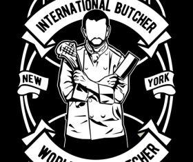 Chef emblem design illustrations vector