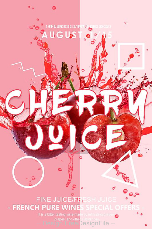 Cherrn juice psd flyer template