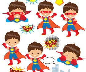 Child superman vector