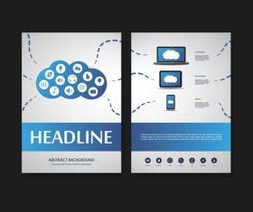 Cloud website flyer design template vector