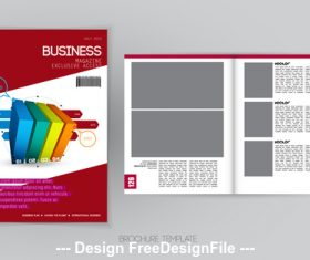 Color brochure template vector